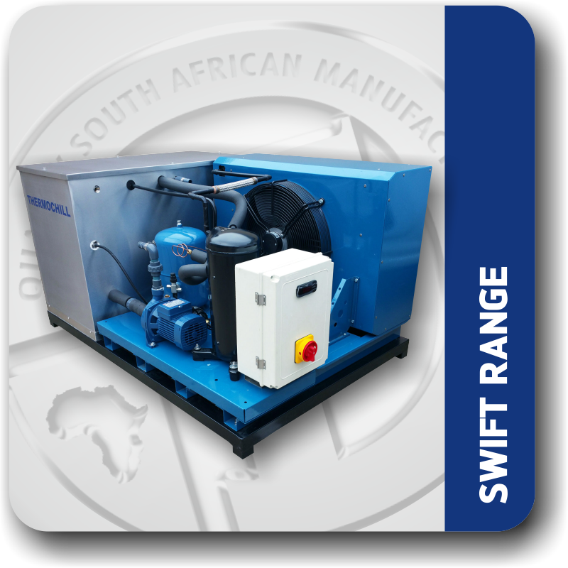 swift range of industrial water chillers
